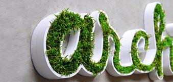 logo 3d végétal, découpe logo végétal, logo 3d végétal Dijon