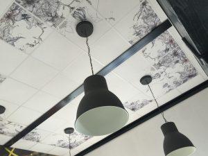 dalle de plafond décoration, Dijon plafond décoration, Dijon agencement impression dalle de plafond