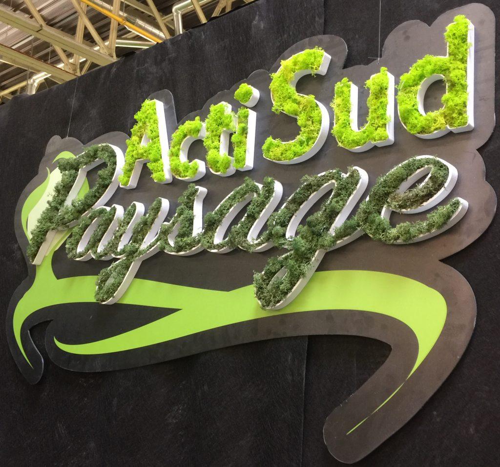 Logo végétal en relief Acti Sud Paysage