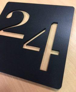 Numéro de chambre d'hôtel en PVC noir